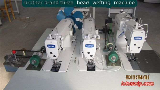 BROTHER three head hair wefting machine