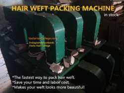 Hair weft packing machine