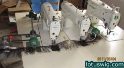 ZOJE three head hair wefting machine